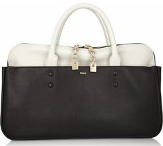Chloe Lucy Tote black and white