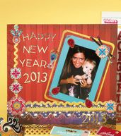 New Year's Eve Scrapbook Page