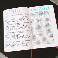 This incredibly satisfying way to keep track of your regular workout routine: | 29 Bullet Journal Layouts For Anyone Trying To Be Healthy