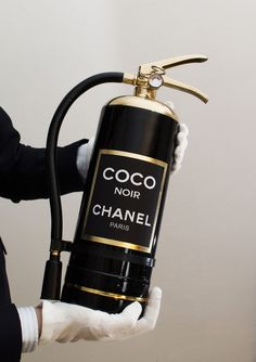 They say that a bottle of chanel can make you really happy. What about a perfume-extinguisher ? Mode Chanel, Chanel Paris, Chanel Chanel, Chanel Beauty, Chanel Tote, Chanel Handbags, Chanel Decor, Chanel Makeup, Paris Chic