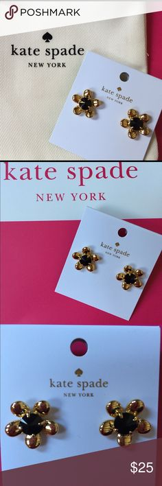 Kate Spade flower earrings Kate Spade brand new earrings. Style-Sunset Blooms. Comes with a dust bag. Would look great with a black dress or add a touch of fun to jeans and t-shirt! Makes a perfect gift! kate spade Jewelry Earrings