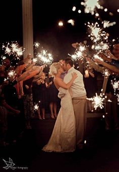 definitely need sparklers if they are allowed at venue.