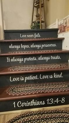 Love is patient on my stairs!