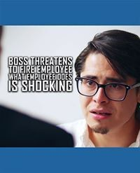 Boss Threatens To Fire Employee, What Employee Does Is Shocking Motivational Videos, You Gave Up, Business Tips, Boss, Success, Fire