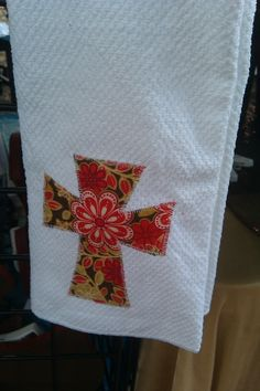 cross dish towel