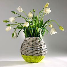 Serax vase with pretty tulips