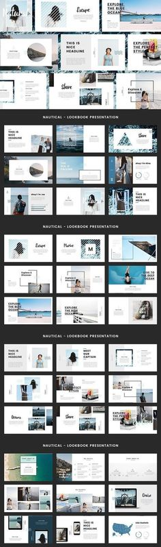 like the typography and layout of text/image on middle slide, second row. Keynote Design, Design Brochure, Indesign Presentation, Presentation Layout, Power Point Presentation, Portfolio Presentation, Presentation Slides, Web Design, Slide Design