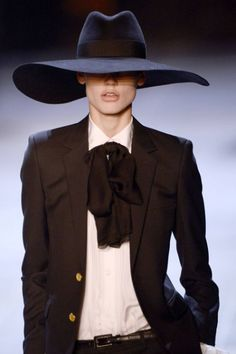 YSL '13; wonderful hat, colors - love the balance of the look