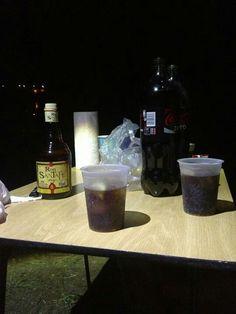 Ron Santa Teresa con Cola en el #LagoCarucedo
