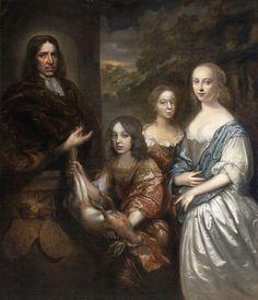 Szépművészeti Múzeum - Arent Muys van Holy and his family - Hoogstraten, Samuel van (Dordrecht 1627 – 1678 Dordrecht) ca. 1672–1673