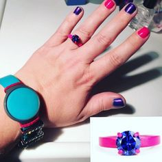 This Superhero Bling Ring is for a strong girl. The round brilliant traditional cut stone is fit for a superhero who is in touch with her feminine side but knows how to be strong, too! Purple Rings, Strong Girls, Magenta, Sterling Silver Rings, Bling, Superhero, Collections, Happy, Instagram