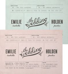 I wouldn't do this but I like that it is different. #invites #weddings