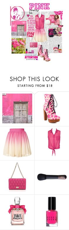 """""""Pretty in PINK"""" by psylocke18 ❤ liked on Polyvore featuring Retrò, Iron Fist, Valentino, Juicy Couture, Bobbi Brown Cosmetics and Della"""