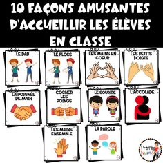 10 façons amusantes d'accueillir les élèves en classe - Prof Numéric Beginning Of School, New School Year, First Day Of School, Back To School, School Stuff, School Organisation, Classroom Organization, Teaching Letters, Teaching Tools