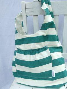DIY reversible beach bag sewing tutorial