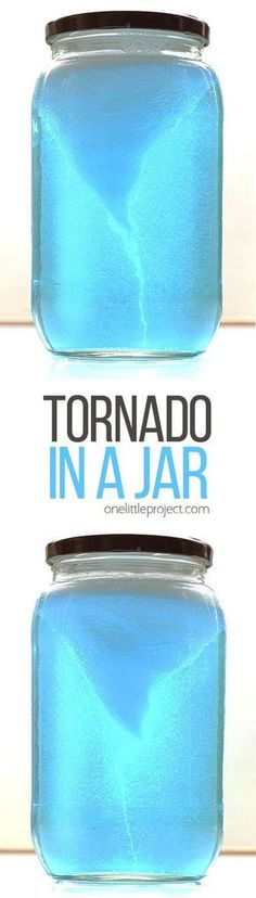 This tornado in a jar experiment is crazy simple, but it's SO COOL to watch! It takes less than five minutes to put together. Easiest science lesson ever!