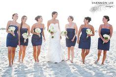 Beach Wedding - blue, white and green