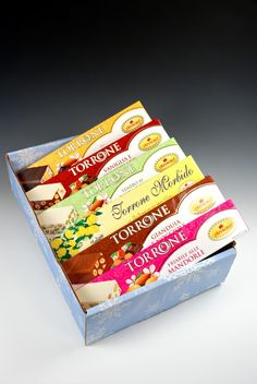 An ideal gift for those who appreciate fine Italian nougat or those who are just discovering the wonderful taste of torrone. This gift box provides a wonderful sampling of different flavored torrone f