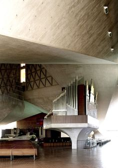 Saint Mary's Cathedral, San Francisco, California by Pietro Belluschi and Pier Luigi Nervi in 1971