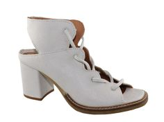 White sandal from Mjus With lacing cord in front