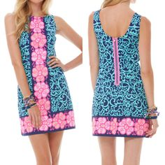 Lilly Pulitzer Delia Shift Dress. OMG LILLY OH HOW I LOVE YOU!!!!!!!!!!!!!! THIS IS HEAVEN TO ME!!!!!!!!!!!!!! LILLY LOVER FOREVER!!!!!!!!!!!!!!!!!!!!!!!!!!!!!!!!!!