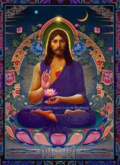 """There is a non-mainstream theory that during the """"lost years"""" of Jesus' life (there is no mention in the Bible of what he was doing between the ages of 12-30) that he traveled to India and spent time learning from spiritual masters there.  There are some interesting parallels between Buddhism and Christianity, so it might not be that far-fetched."""