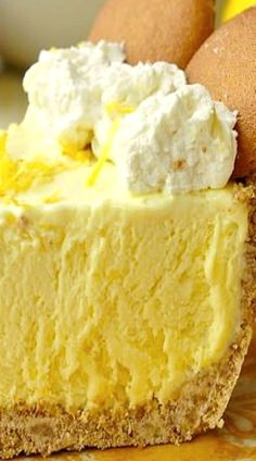 Old Fashioned Lemon Icebox Pie ~ It combines three great features for an ideal summer dessert: it's truly simple to whip up and needs minimum baking, so you won't heat up your house even more, and the refreshing effect of the ice cream even doubled here with an addition of lemon!