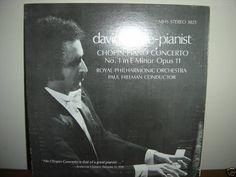 DAVID SYME CHOPIN PIANO CONCERTO NO 1 ~ LP RECORD NM