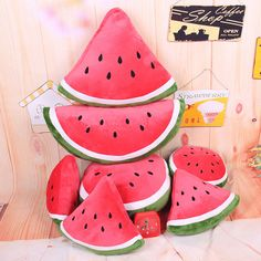Cute Cartoon Fruit Watermelon Cushion Throw Fight Pillow Plush Toys Lovely Gift #Unbranded #cute