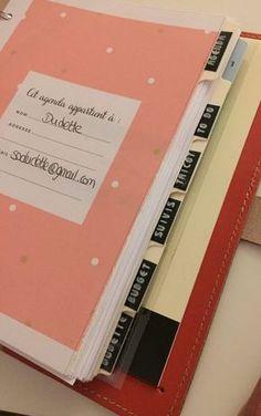 Mon ami le planner (et imprimables à télécharger) | Dudette Diy Planner, Planner Organisation, Organization Bullet Journal, Budget Planner, Happy Planner, Diy Agenda, Agenda Planner, Weekly Planner, Bullet Journal Printables