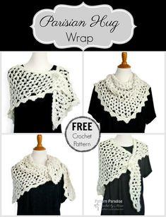 Free Crochet Pattern: Parisian Hug Wrap & Giveaway! | Pattern Paradise
