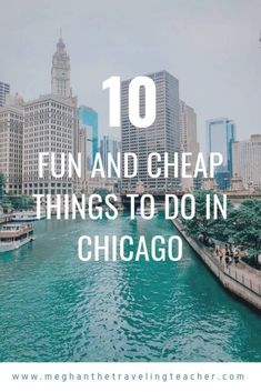There's so much to do in Chicago, but you don't have to spend a ton to see the city! Here is my list of fun and cheap things to do in Chicago. Chicago Vacation, Chicago Travel, Travel Usa, Chicago Trip, Solo Travel, Chicago Lake, Italy Vacation, Cheap Things To Do, Stuff To Do