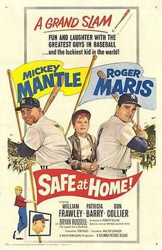 Safe At Home! Top From Left: Mickey Mantle Bryan Russell Roger Maris Bottom From Left: Patricia Barry William Frawley Movie Poster Masterprint Baseball Records, Baseball Movies, Baseball Players, Baseball Pics, Baseball Quotes, Sports Advertising, The Mick, Mickey Mantle, Gourmet