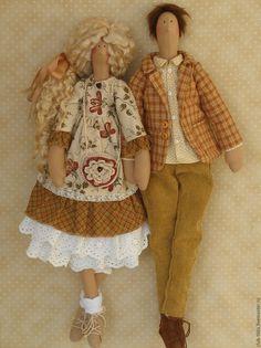 Купить Влюбленная парочка в стиле Тильда - тильда, тильда кукла, тильда ангел, тильда принцесса