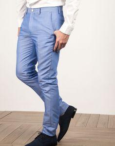 Pantalón traje claro
