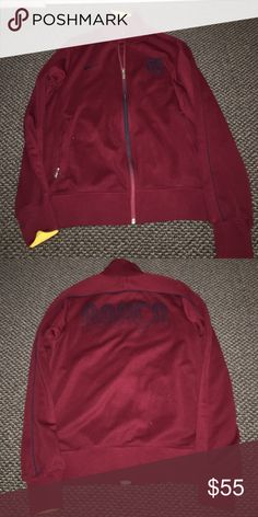 Barcelona sports jacket Excellent condition. Worn once. Too big. Nike Jackets & Coats Utility Jackets