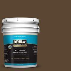 BEHR Premium Plus 5-gal. #ECC-20-3 Hickory Grove Satin Enamel Exterior Paint 934005 at The Home Depot - Mobile
