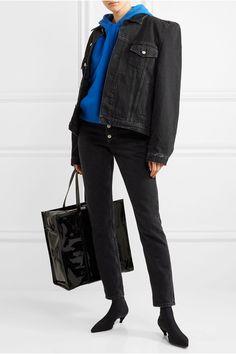 Balenciaga - Spandex Ankle Boots - Black - IT40.5