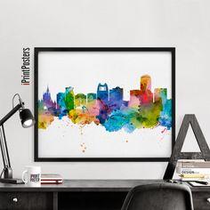 Orlando skyline poster Orlando art print Florida by iPrintPosters