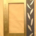 Spiegelrahmen , Blattmetall gold mit silber Applikationen