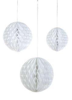 Papierball max. 30 cm weiß