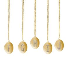 Two-Toned Monogramed Locket in Gold F-J