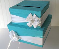 This one is pretty, too.   Wedding Card Box Wedding Money Box Wedding by LaceyClaireDesigns, $92.00