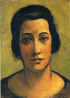'Portrait of Madame Carco' by French artist André Derain (1880-1954). Oil on…