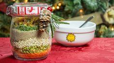 Ingrédients    ¼ tasse (65ml) de lentilles rouges  ¼ tasse (65ml) de pois verts cassés  ¼ tasse (65ml) d'orge  1/3 tasse (85ml) d...