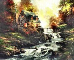 Cobblestone Mill ~ Thomas Kinkade
