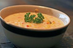 Healthier Corn and Crab Bisque from Food.com: One of my most favorite soups ever, but it's usually full of butter, heavy cream, and other not so good for you stuff. So, here's my attempt at making it less sinful.