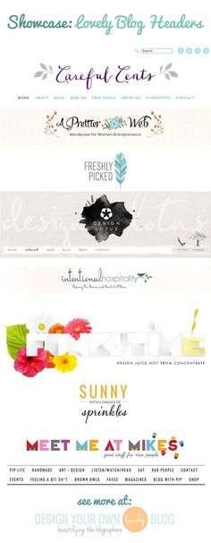 Showcase of Lovely Blog Headers | Design Your Own (lovely) Blog