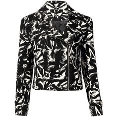 Yoins Leopard Print Biker Jacket-Black/White  S/M/L ($27) ❤ liked on Polyvore featuring outerwear, jackets, coats, coats & jackets, black, leather & suede jackets, moto jacket, black leather jacket, white and black jacket and black white jacket