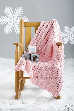 Single Skein Blankie - from Crochet Today. I've made this a few times, and love it.